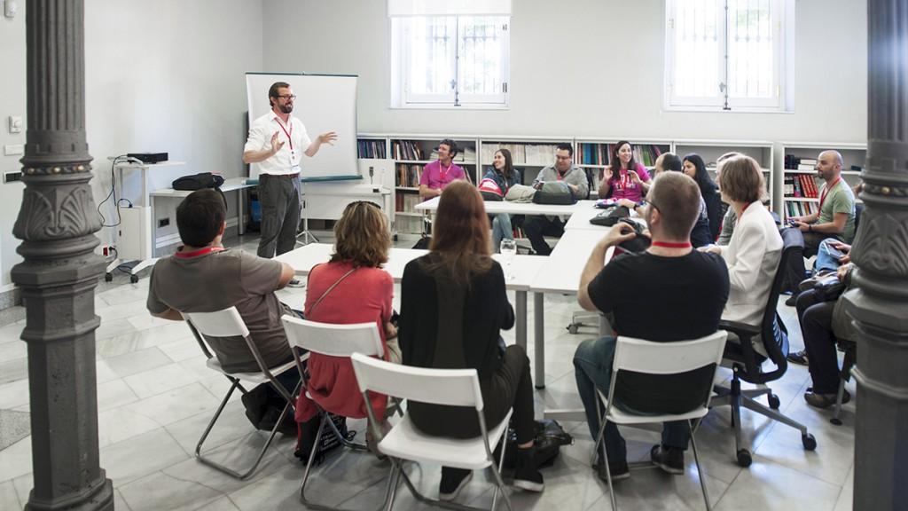 Una sesión del MeasureCamp Madrid
